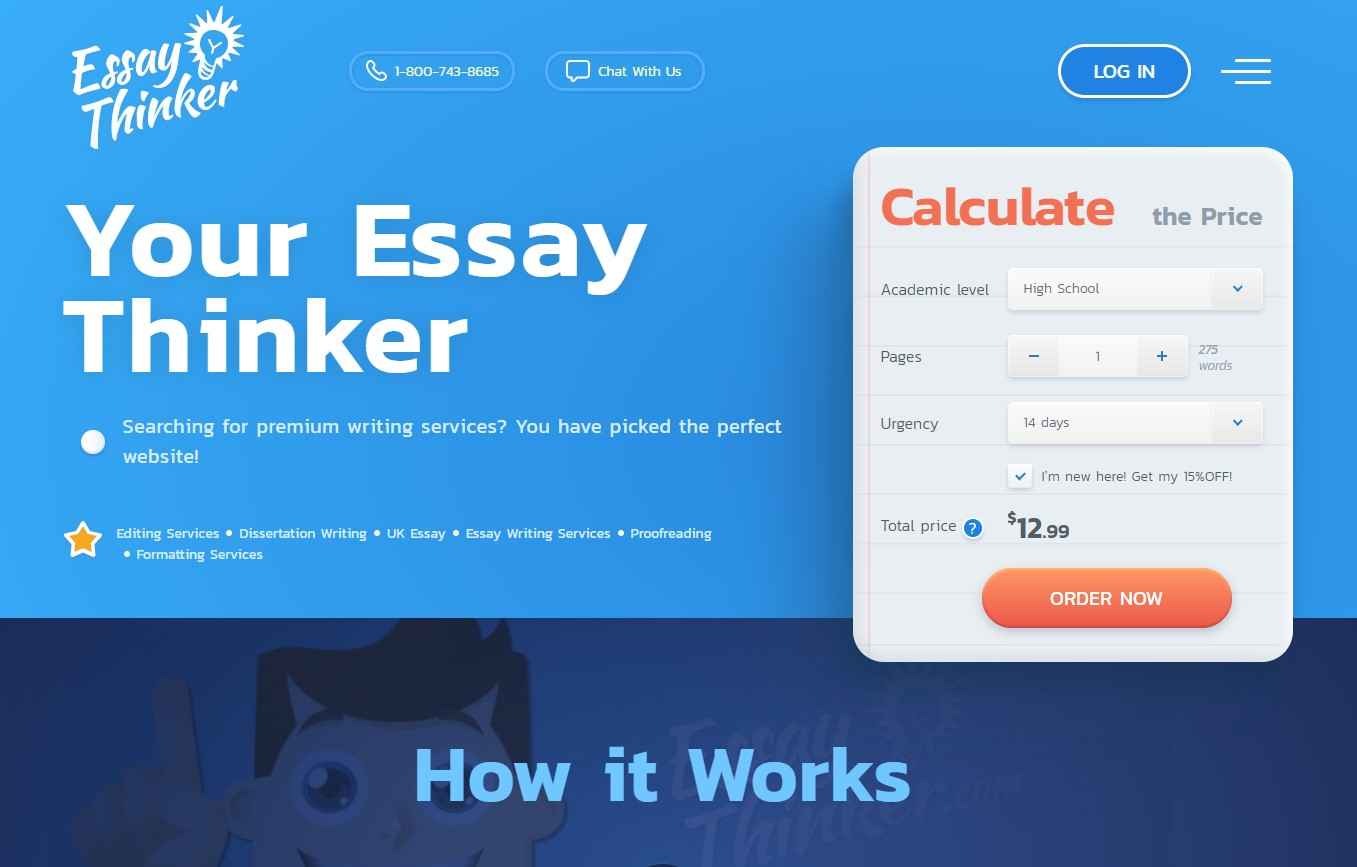 EssayThinker Review Main Page